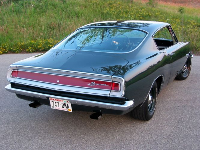 1968 Plymouth Barracuda classic muscle f wallpaper