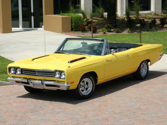 1969 Plymouth Road Runner Convertible classic muscle hot rod rods d wallpaper