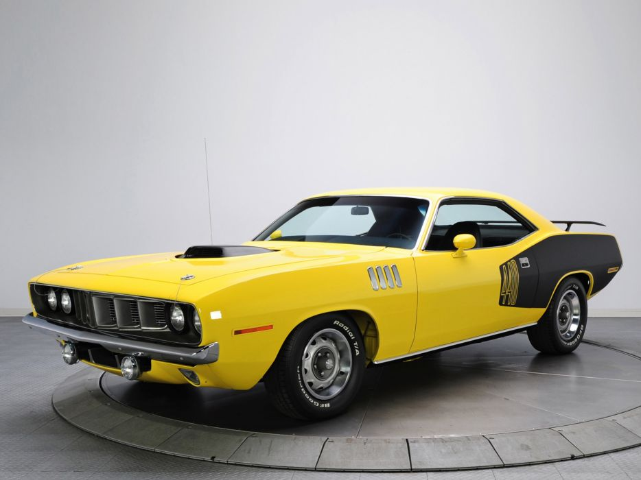 1971 Plymouth Cuda 440 classic muscle   g wallpaper