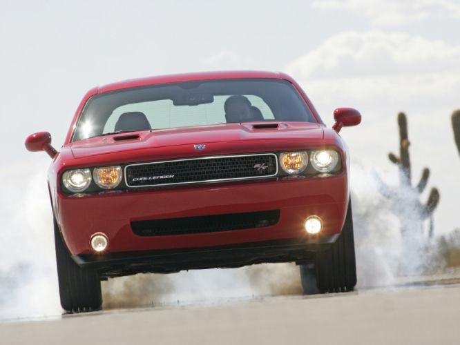 2008 Dodge Challenger R-T muscle burnout smoke r wallpaper