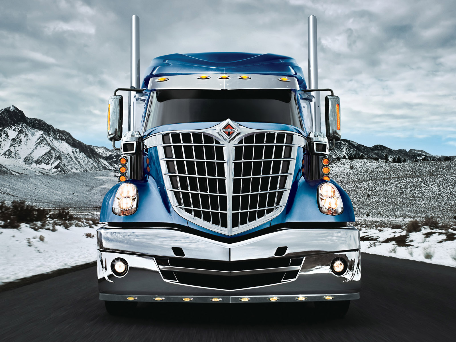 2008 international lonestar semi tractor truck transport - 18 wheeler wallpaper ...