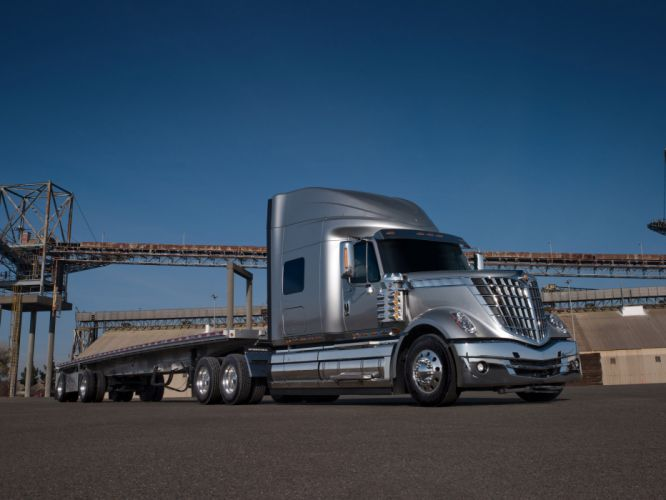 2008 International LoneStar semi tractor truck transport f wallpaper