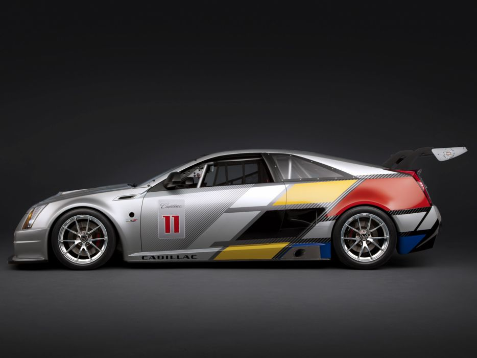 2011 Cadillac CTS-V Racing Coupe race muscle   h wallpaper