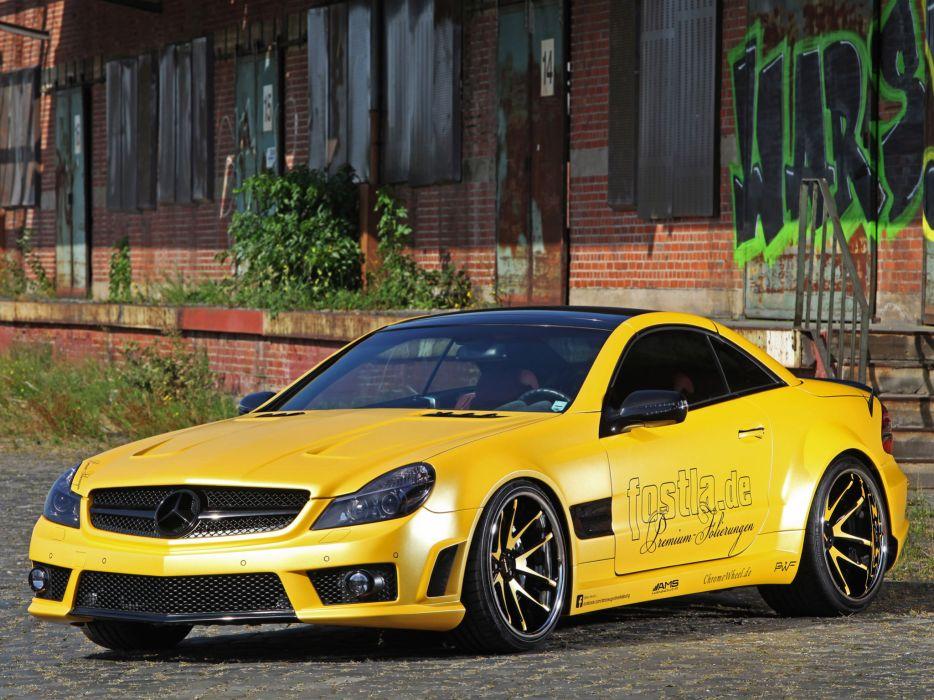 2012 Fostla AMG Mercedes Benz SL Lquid Gold R230 tuning supercar supercars     g wallpaper
