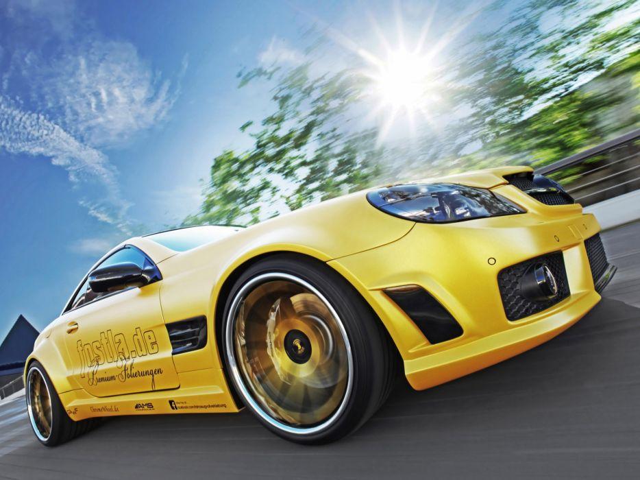 2012 Fostla AMG Mercedes Benz SL Lquid Gold R230 tuning supercar supercars wheel wheels    g wallpaper