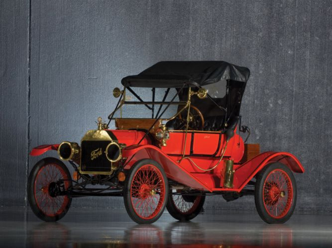 1911 Ford Model-T Torpedo Runabout retro wallpaper