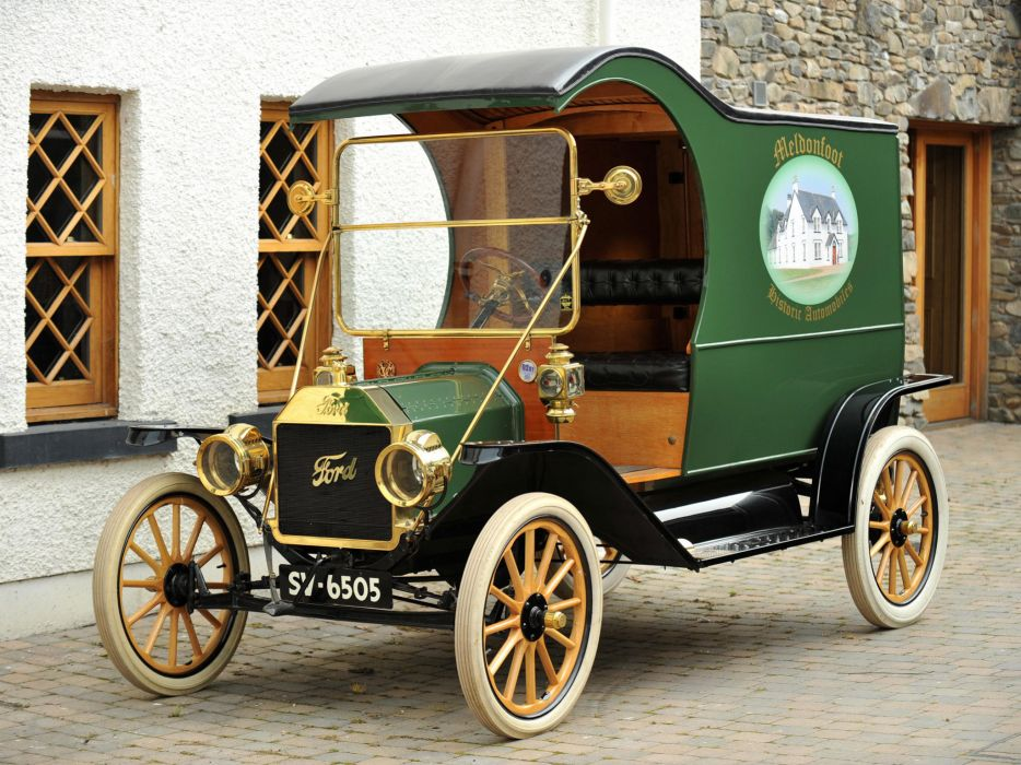 1912 Ford Model-T Delivery retro truck transport cargo wallpaper