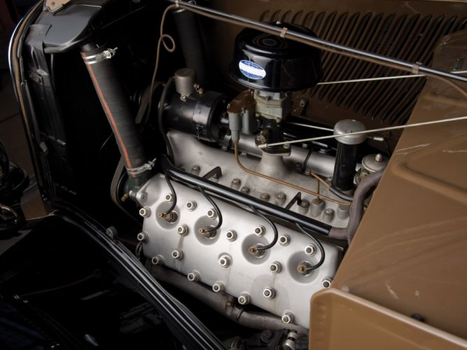 1933 Ford V-8 StationWagon retro engine engines wallpaper