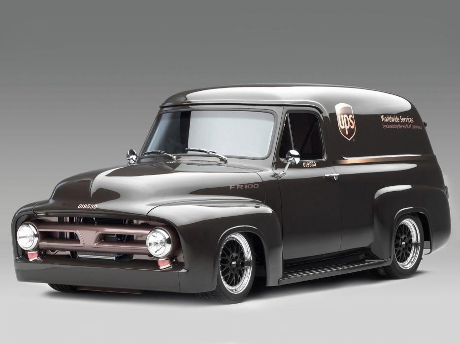 1953 Ford FR100 Panel Truck Concept hot rod rods retro wallpaper
