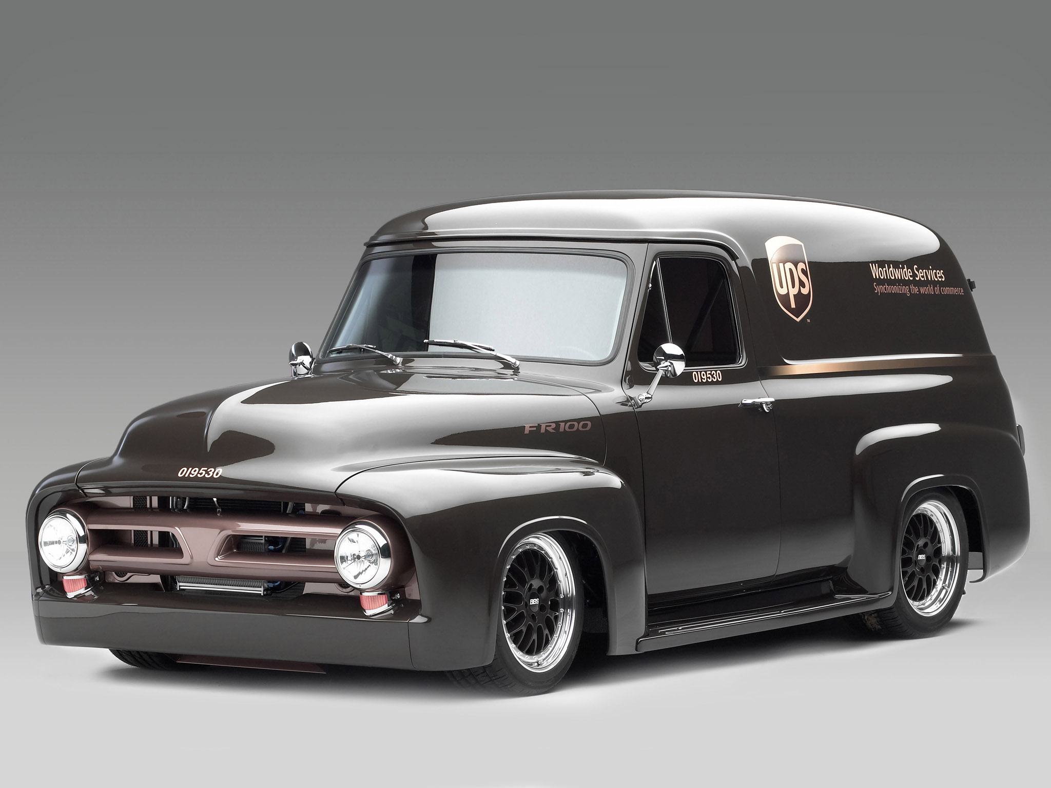 1953 Ford Fr100 Panel Truck Concept Hot Rod Rods Retro Wallpaper