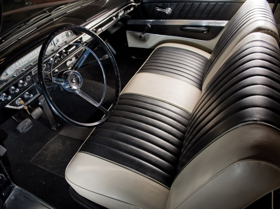 1961 Ford Galaxie X-L 401 Sunliner Convertible classic muscle interior wallpaper