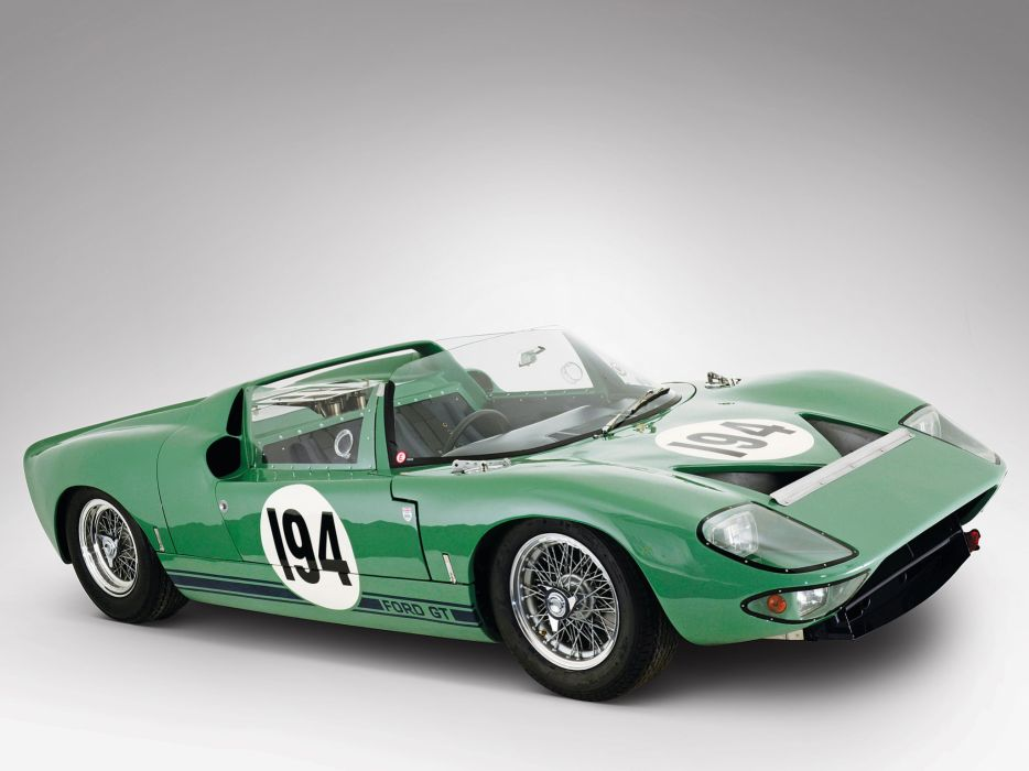1965 Ford GT40 Prototype Roadster classic supercar supercars wallpaper