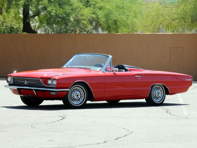 1966 Ford Thunderbird Convertible 76A classic luxury g wallpaper
