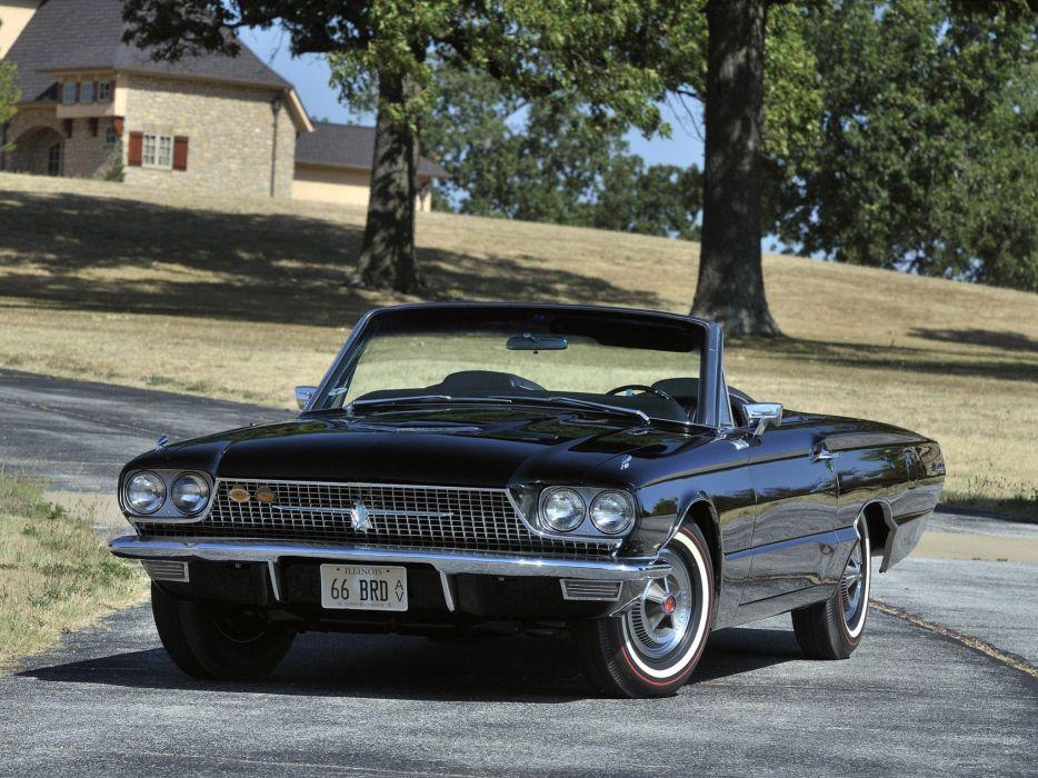 1966 Ford Thunderbird Convertible 76A classic luxury  d wallpaper
