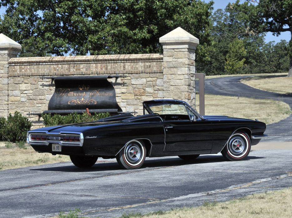 1966 Ford Thunderbird Convertible 76A classic luxury  ds wallpaper