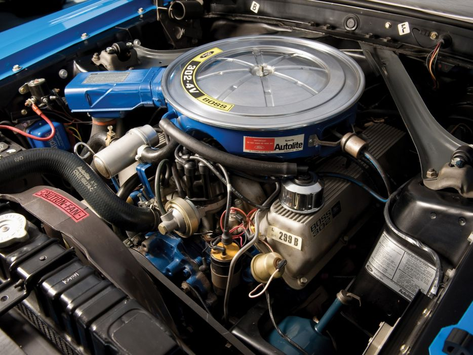1970 Ford Mustang Boss 302 classic muscle engine engines wallpaper