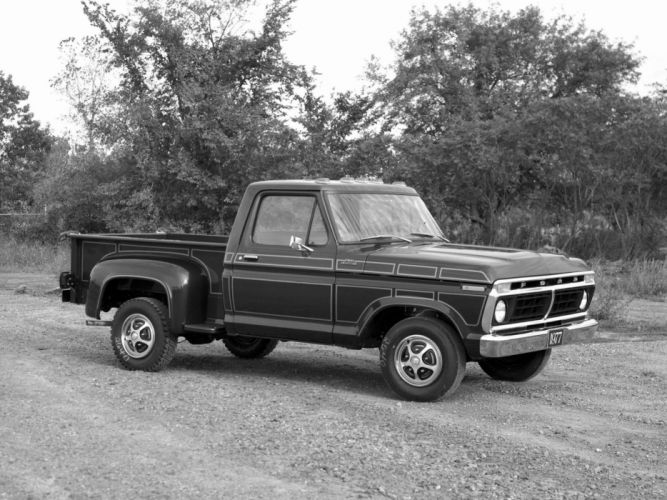 1977 Ford F-100 Custom truck classic wallpaper