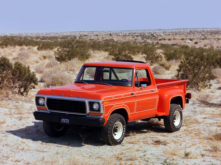 1978 Ford F-100 classic truck 4x4 wallpaper