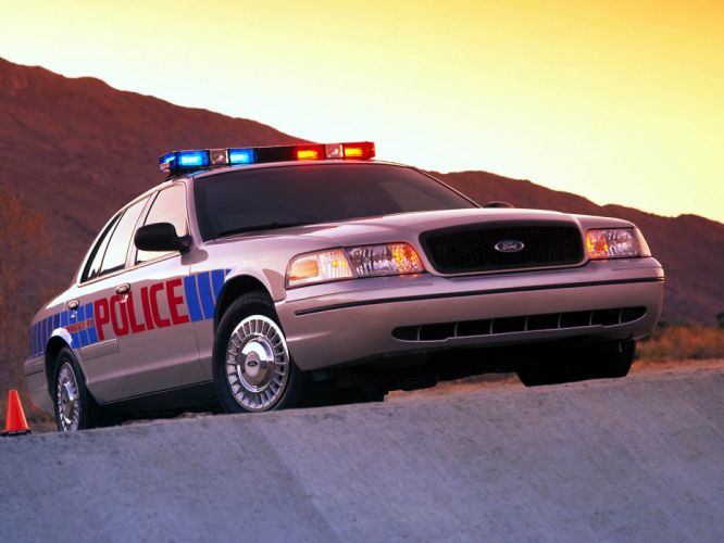 1998 Ford Crown Victoria Police Interceptor muscle f wallpaper