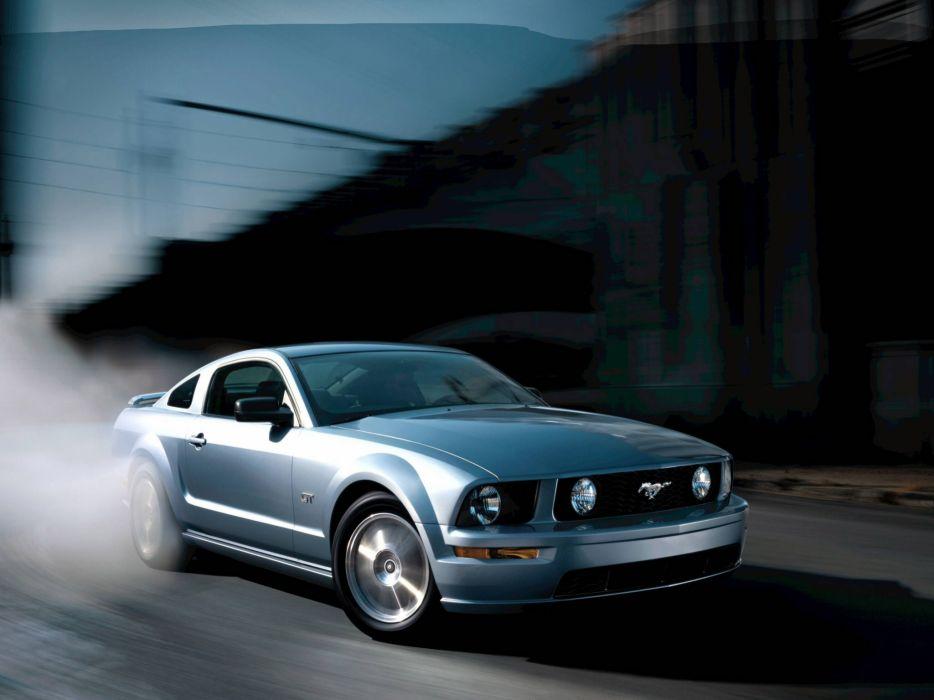 Ford Mustang Muscle G T Burnout Smoke Wallpaper