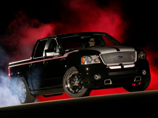 2007 Ford F-150 Foose truck tuning custom muscle burnout smoke wallpaper