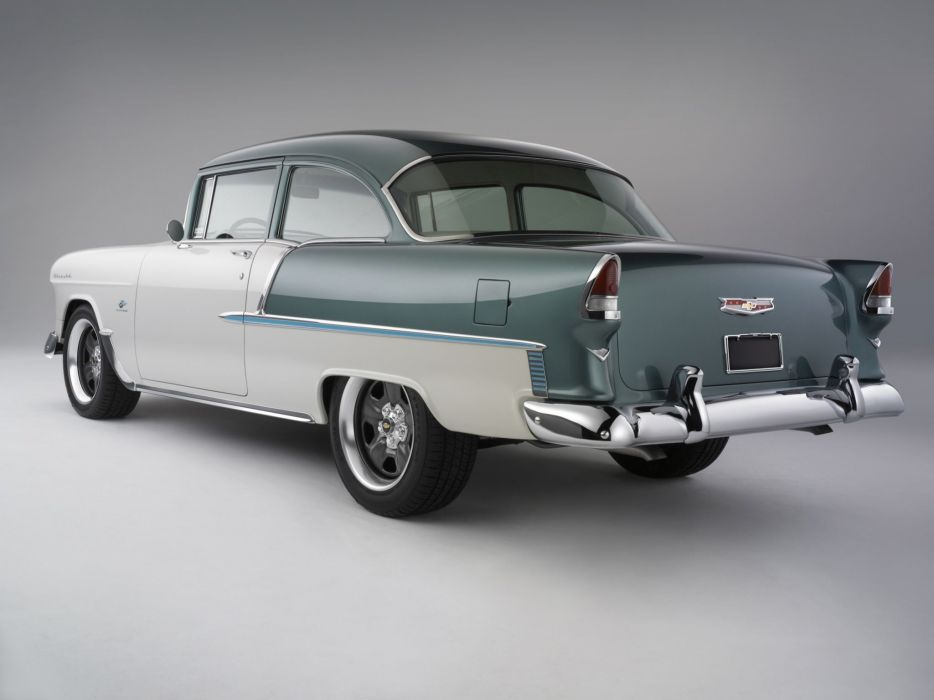 1955 Chevrolet Bel Air coupe retro muscle hot rod rods   f wallpaper