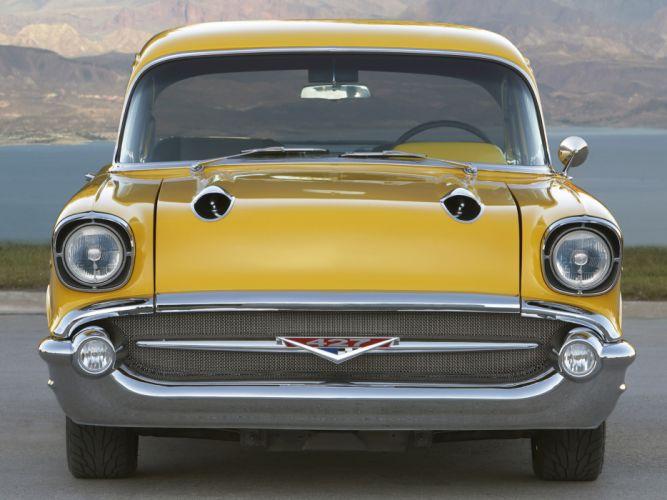 1957 Chevrolet Bel Air retro muscle hot rod rods d wallpaper