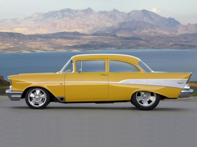 1957 Chevrolet Bel Air retro muscle hot rod rods d wallpaper