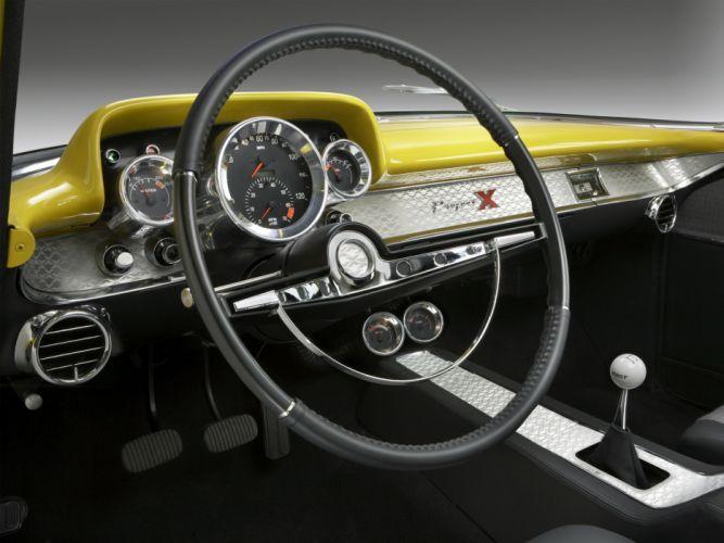 1957 Chevrolet Bel Air retro muscle hot rod rods interior wallpaper