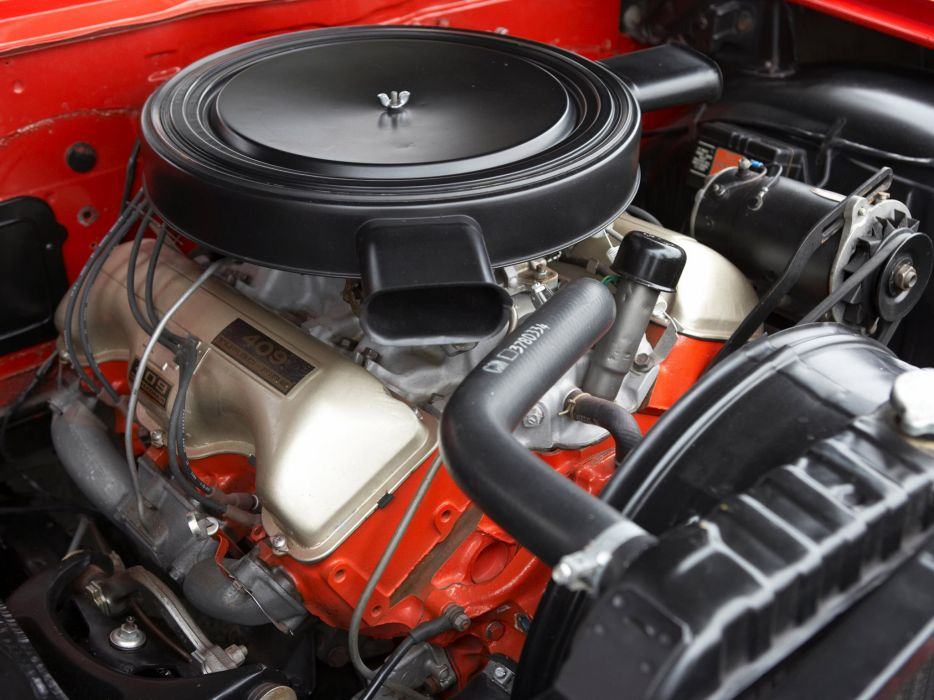 1962 Chevrolet BelAir 409 SportCoupe classic muscle engine engines wallpaper
