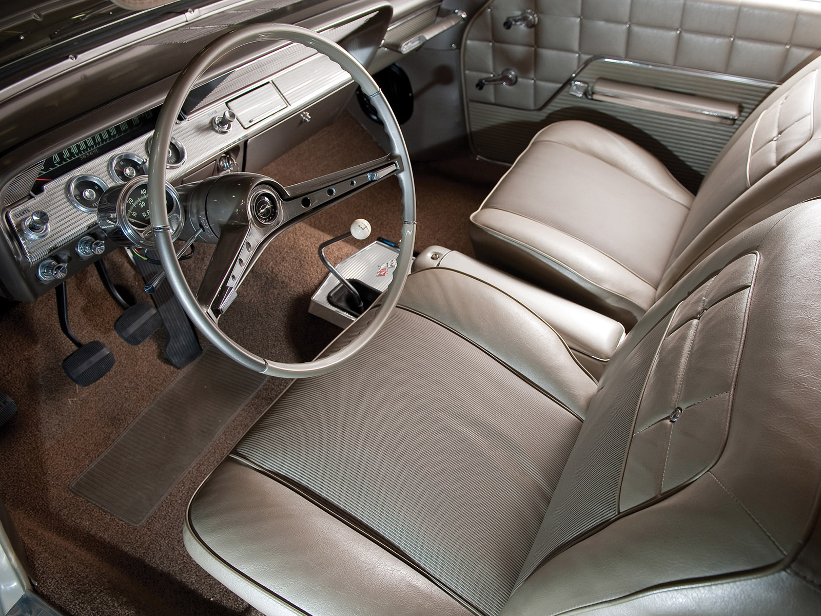 1962 Chevrolet Impala S S 409 Lightweight Coupe Classic Muscle Interior Wallpaper 1600x1200