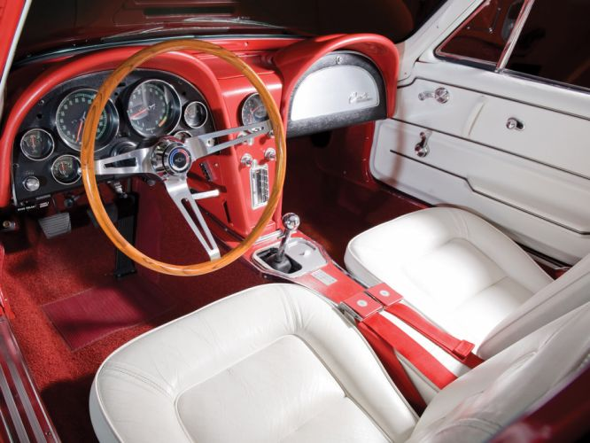 1965 Chevrolet Corvette C2 Sting Ray 327 L84 classic muscle supercar supercars interior wallpaper