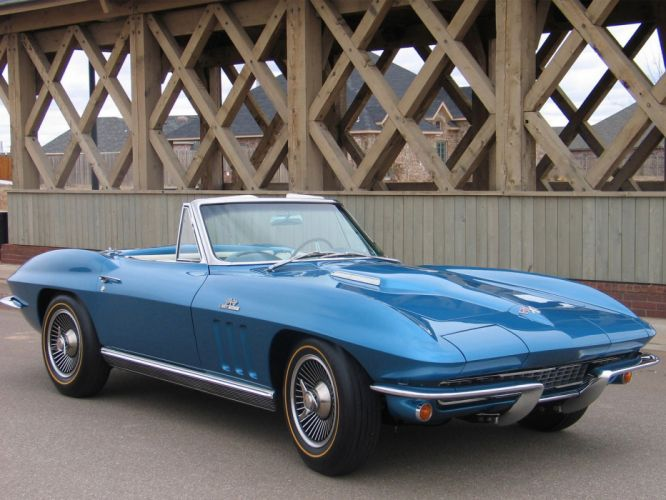 1965 Chevrolet Corvette C2 Sting Ray Convertible classic muscle supercar supercars e wallpaper