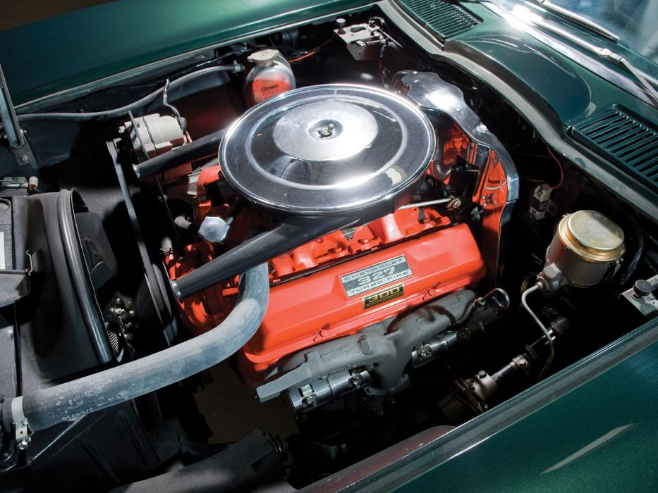 1965 Chevrolet Corvette C2 Sting Ray Convertible classic muscle supercar supercars engine engines wallpaper