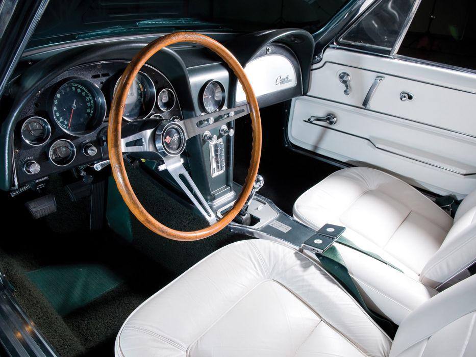 1965 Chevrolet Corvette C2 Sting Ray Convertible classic muscle supercar supercars interior wallpaper