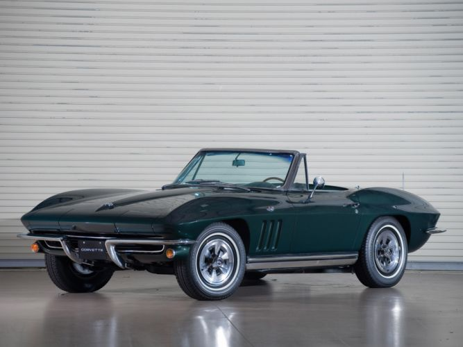 1965 Chevrolet Corvette C2 Sting Ray Convertible classic muscle supercar supercars wallpaper