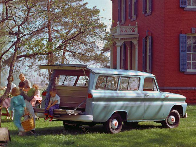 1965 Chevrolet Suburban 4x4 truck classic d wallpaper