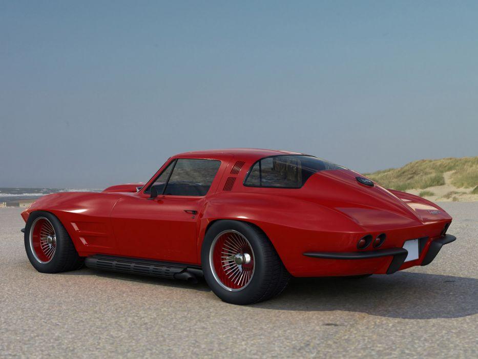 1966 Chevrolet Corvette Coupe classic muscle supercar supercars  f wallpaper