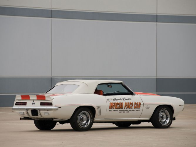1969 Chevrolet Camaro S-S Convertible Indy 500 Pace classic muscle race racing wallpaper
