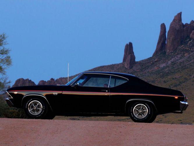 1969 Chevrolet Chevelle S-S 2-door Hardtop classic muscle wallpaper
