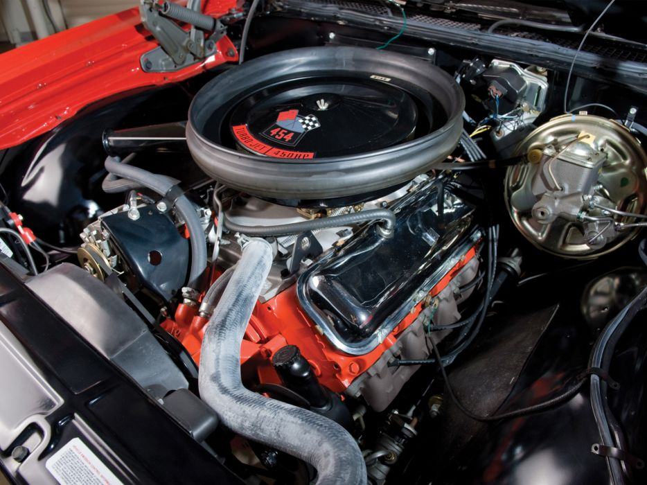 1970 Chevrolet Chevelle S-S 454 PRO LS6 Convertible classic muscle engine engines    e wallpaper