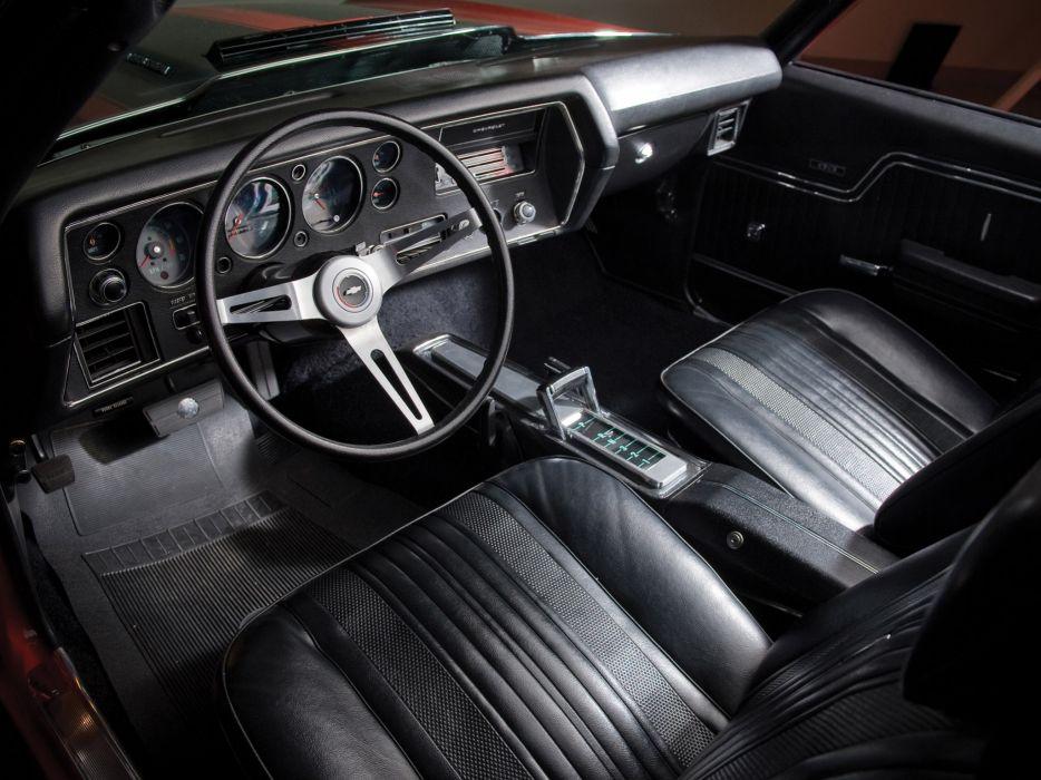 1970 Chevrolet Chevelle S-S 454 PRO LS6 Convertible classic muscle interior wallpaper