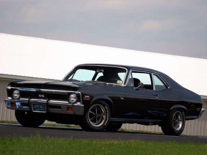 1972 Chevrolet Nova S-S 396 classic muscle hot rod rods d wallpaper