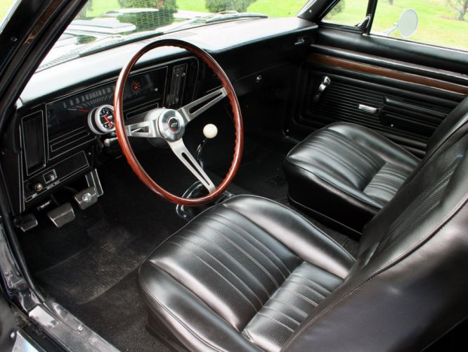 1972 Chevrolet Nova S-S 396 classic muscle hot rod rods interior wallpaper