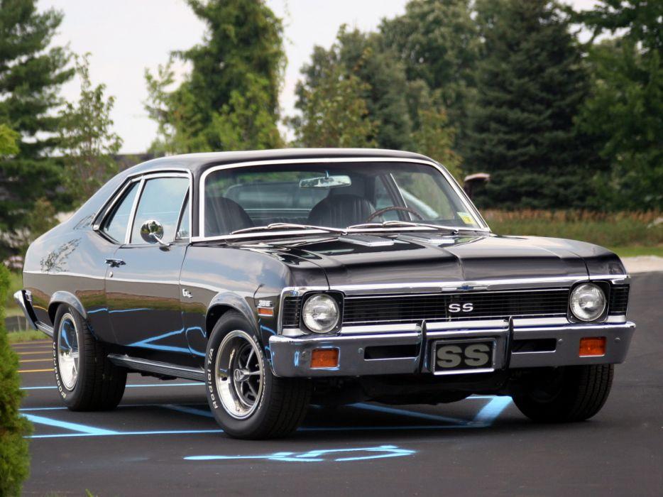 1972 Chevrolet Nova S-S 396 classic muscle hot rod rods wallpaper