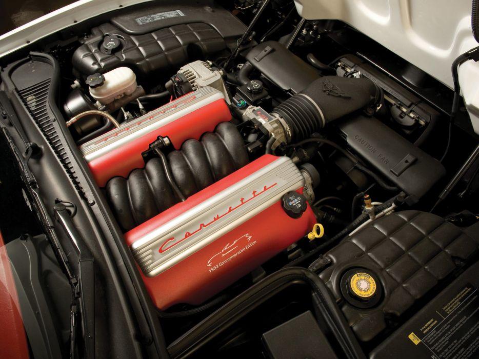 2003 Chevrolet Corvette 1953 Commemorative muscle supercar supercars engine engines wallpaper