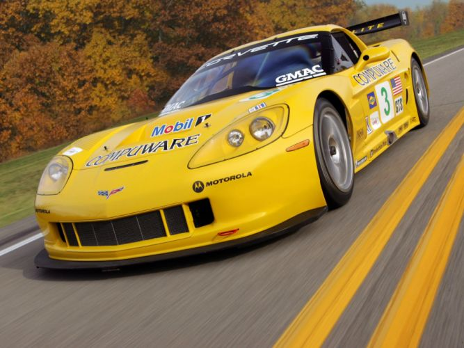2005 Chevrolet Corvette C6R supercar supercars race racing wallpaper