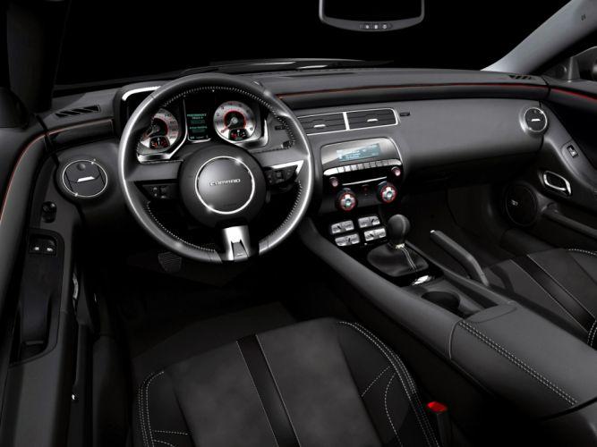 2008 Chevrolet Camaro Black Concept muscle interior wallpaper