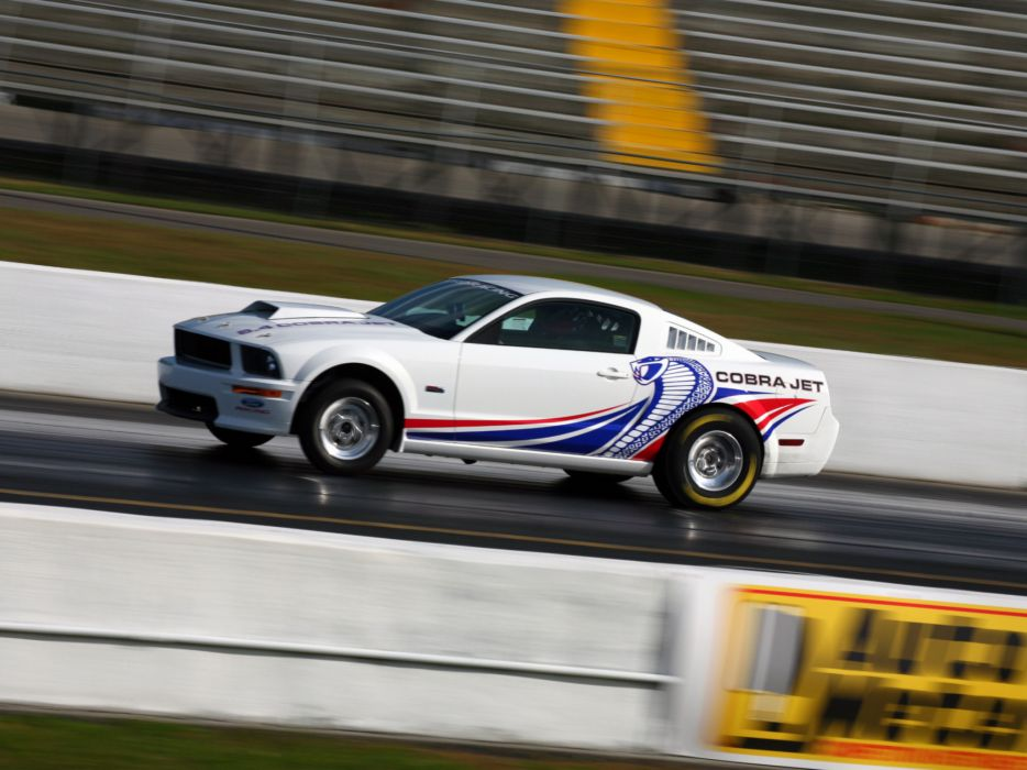 2008 Ford Mustang FR500 Cobra Jet muscle hot rod rods drag racing race      f wallpaper