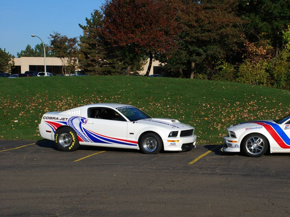 2008 Ford Mustang FR500 Cobra Jet muscle hot rod rods drag racing race   g wallpaper